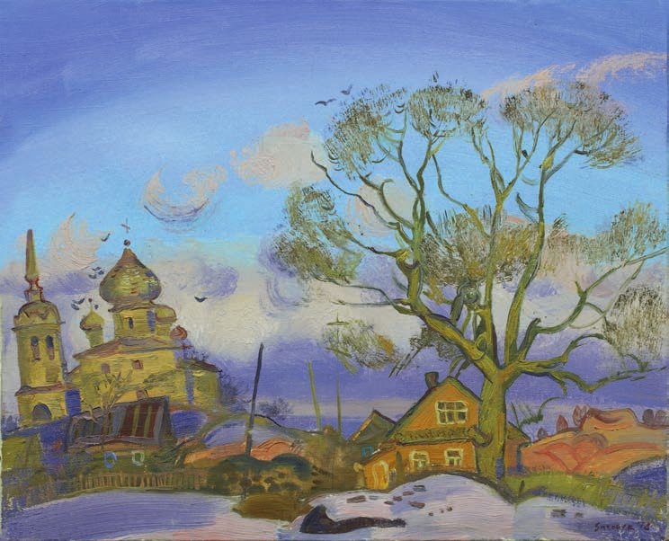 Evening in the Staraya Ladoga (Church of the Nativity of John the Baptist) Загонек