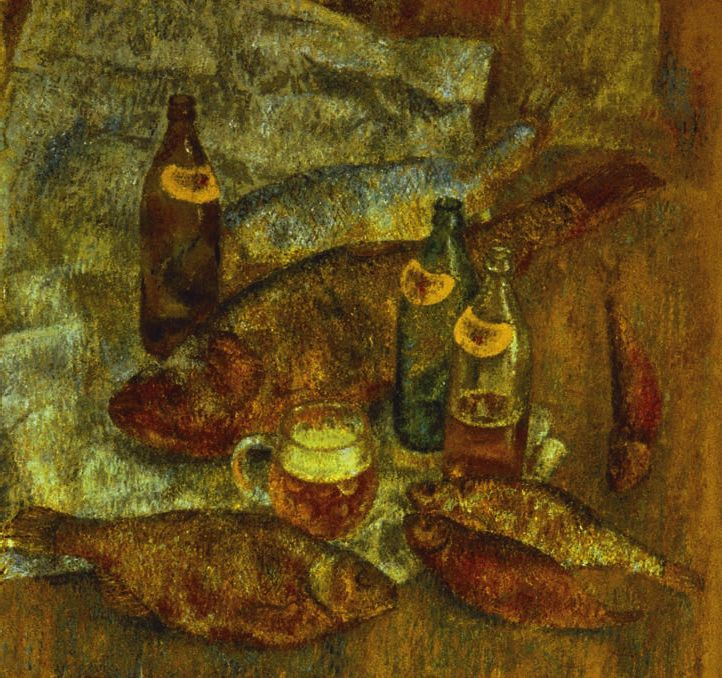 Still life. Beer and fish Загонек